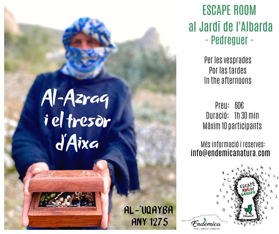 Al-Azraq i el tresor d'Aixa escaperoom albarda endemicanatura